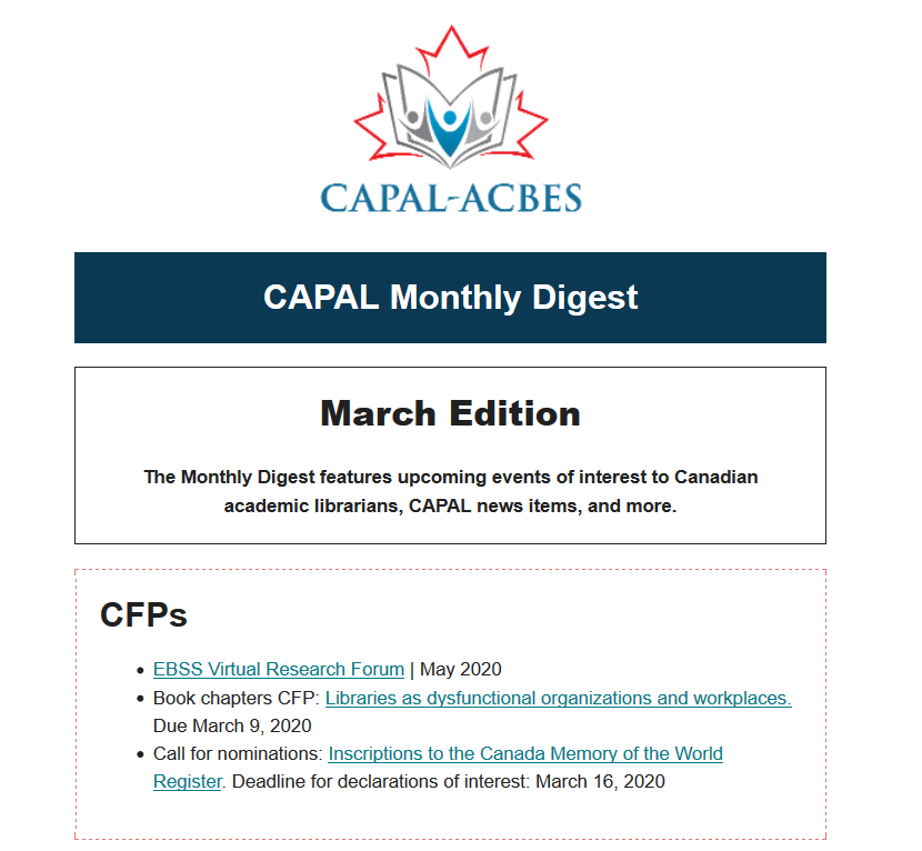 Screenshot preview of monthly digest. For full version, which is accessible, follow the link embedded in the image.